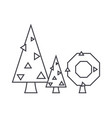 fir tree thin line icon concept fir tree linear vector image