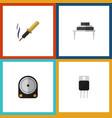 flat icon electronics set of destination repair vector image vector image