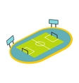 Football playground icon vector image vector image
