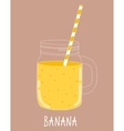 Fresh Banana Smoothie Healthy Food vector image vector image