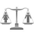 Gender equality sex justice scales vector image vector image
