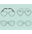 glasses icons set elements for design vector image vector image