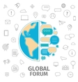 Global Forum concept vector image