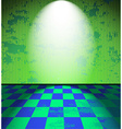 Green grunge room vector image vector image