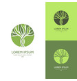 green tree logo modern vector image vector image