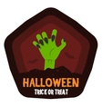 Halloween Badge or Label vector image vector image