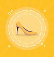 heel shoe isolated icon vector image vector image