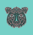 icon in a flat style abstract tiger vector image vector image