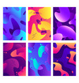 liquid shapes posters modern color fluid shape vector image