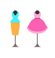 mannequins with clothing vector image vector image