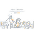 medical laboratory - modern line design style vector image vector image
