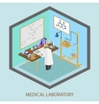 Medical laboratory scientist test tubes flasks vector image vector image