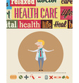 Medical with infographic elements and doctor vector image vector image