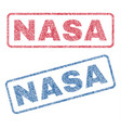 nasa textile stamps vector image vector image