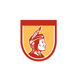 Native American Indian Chief Shield Retro vector image vector image
