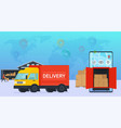 online service delivery goods to warehouse vector image vector image