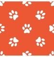 Orange paw pattern vector image