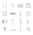 Outline Melody Icon Set vector image