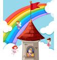 princess in castle vector image