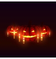 pumpkins with candles vector image vector image