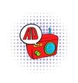 Radio advertising icon comics style vector image vector image