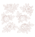 Set of decorative roses vector image vector image