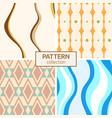 set of four seamless fashion colorful patterns vector image vector image
