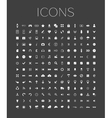 set of universal web icons on a gray background vector image vector image