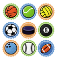 Set with sport balls - cartoon vector | Price: 1 Credit (USD $1)