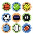 set with sport balls - cartoon vector image vector image