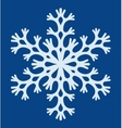snowflake on a blue background vector image vector image