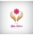 spa beauty salon cosmetics massage logo vector image vector image