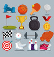 sports champions league icons vector image
