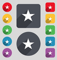 Star Favorite icon sign A set of 12 colored vector image