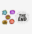 the end set labels vector image vector image