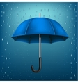 umbrella rain blue background vector image