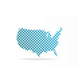 usa united states chequered map graphic vector image