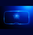 virtual reality glasses vr interface technology vector image vector image