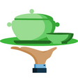 waiter with plate vector image