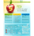 website for business with red apple vector image