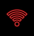 wi-fi offline bad signal neon sign bright glowing vector image