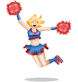 Cheerleader Jumps In The Air vector image