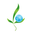 Planet earth with plants as symbol of environment vector image