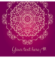 Abstract mandala baner vector image