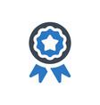 achievement badge icon vector image vector image