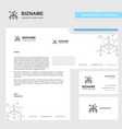 air turbine business letterhead envelope and vector image vector image