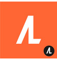 al letters symbol a and l letters ligature vector image vector image