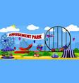 amusement park landscape vector image vector image