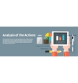 Analysis actions Concept of businessman using vector image