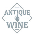 antique wine logo simple gray style vector image vector image
